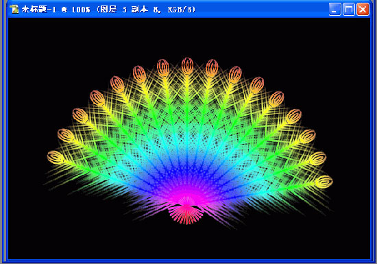 ps画图教程 - 制作漂亮的羽毛扇