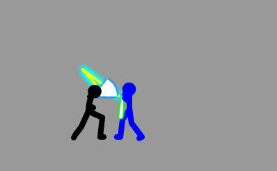 Flash教你制作动画火柴棍人光剑短打