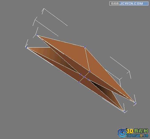 3Dmax制作千纸鹤多边形建模教程