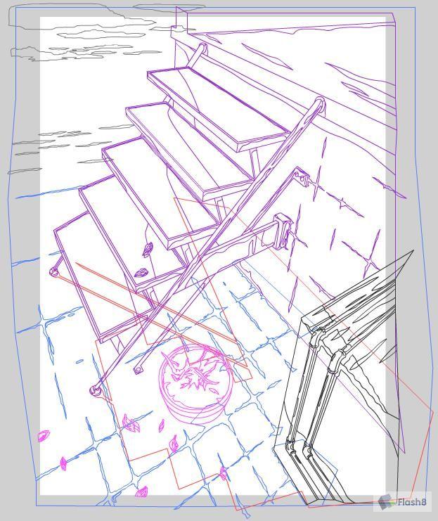 Flash教你绘制楼梯动画场景